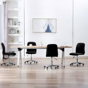 Καρέκλες Τραπεζαρίας 4 τεμ. Μαύρες Υφασμάτινες