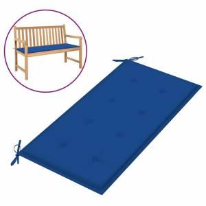 Μαξιλάρι για Παγκάκι Κήπου Μπλε Ρουά 100x50x4 εκ. Υφασμάτινο