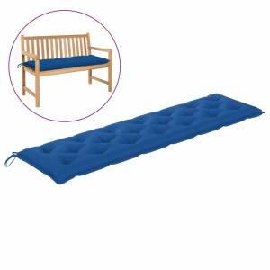 Μαξιλάρι για Παγκάκι Κήπου Μπλε 200x50x7 εκ. Υφασμάτινο