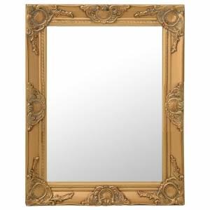 Καθρέφτης Τοίχου με Μπαρόκ Στιλ Χρυσός 50 x 60 εκ.