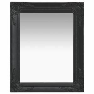 Καθρέφτης Τοίχου με Μπαρόκ Στιλ Μαύρος 50 x 60 εκ.