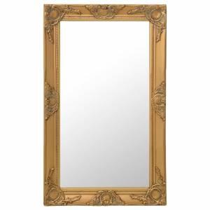 Καθρέφτης Τοίχου με Μπαρόκ Στιλ Χρυσός 50 x 80 εκ.