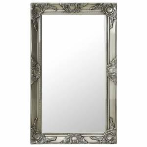 Καθρέφτης Τοίχου με Μπαρόκ Στιλ Ασημί 50 x 80 εκ.