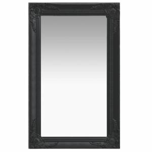 Καθρέφτης Τοίχου με Μπαρόκ Στιλ Μαύρος 50 x 80 εκ.