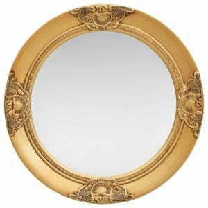 Καθρέφτης Τοίχου με Μπαρόκ Στιλ Χρυσός 50 εκ.