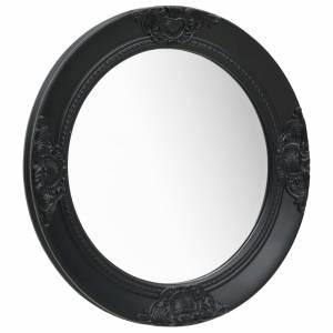 Καθρέφτης Τοίχου με Μπαρόκ Στιλ Μαύρος 50 εκ.