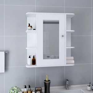 Καθρέφτης Μπάνιου με Ντουλάπι Λευκό 66 x 17 x 63 εκ. από MDF