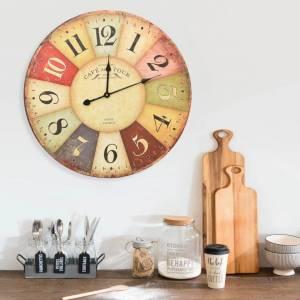 Ρολόι Τοίχου Vintage Πολύχρωμο 60 εκ.