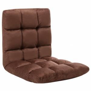 Καρέκλα Δαπέδου Πτυσσόμενη Καφέ από Μικροΐνες