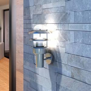 Φωτιστικό Τοίχου για Αίθριο από Ανοξείδωτο Ατσάλι με LED