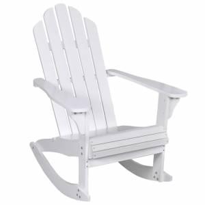 Καρέκλα κήπου Κουνιστή Ξύλινη Λευκή