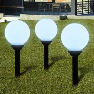 Ηλιακοί γλόμποι 20cm για διαδρόμους κήπου