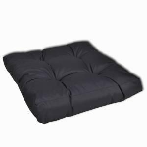 Μαξιλάρι καθίσματος με επένδυση 50 x 50 x 10 cm γκρι