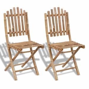Καρέκλες Κήπου Πτυσσόμενες 2 τεμ. από Μπαμπού