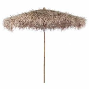 Ομπρέλα 270 εκ. από Μπαμπού με Καπέλο από Φύλλα Μπανάνας