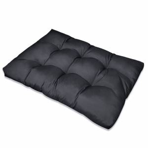 Μαξιλάρι Καθίσματος Επενδεδυμένο Γκρι 120 x 80 x 10 εκ.