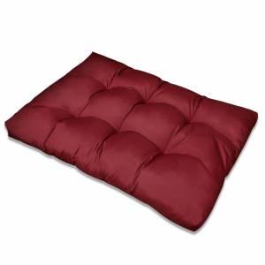 Μαξιλάρι Καθίσματος Επενδεδυμένο Μπορντώ 120 x 80 x 10 εκ.