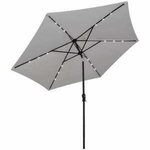 Ομπρέλα Κρεμαστή με LED Λευκό της Άμμου 3 μ.