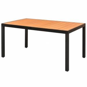 Τραπέζι Κήπου Καφέ 150 x 90 x 74 εκ. από Αλουμίνιο / WPC