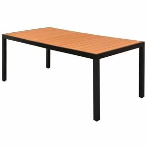 Τραπέζι Κήπου Καφέ 185 x 90 x 74 εκ. από Αλουμίνιο / WPC
