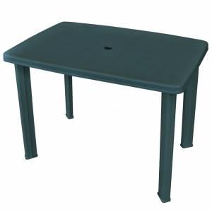 Τραπέζι Κήπου Πράσινο 101 x 68 x 72 εκ. Πλαστικό