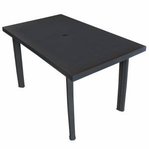 Τραπέζι Κήπου Ανθρακί 126 x 76 x 72 εκ. Πλαστικό
