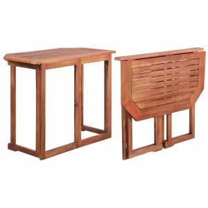 Τραπέζι Bistro 90 x 50 x 75 εκ. από Μασίφ Ξύλο Ακακίας