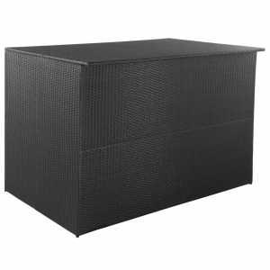 Μπαούλο Εξωτερικού Χώρου Μαύρο 150x100x100 εκ. Συνθετικό Ρατάν