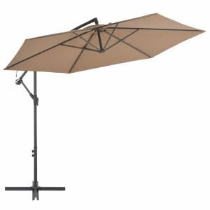 Ομπρέλα Κρεμαστή Χρώμα Taupe 300 εκ. με Ιστό Αλουμινίου