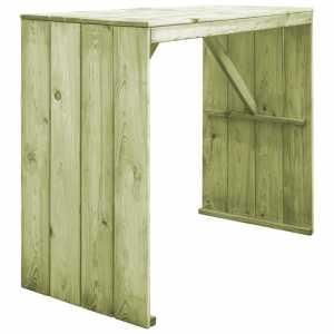 Τραπέζι Μπαρ 130 x 60 x 110 εκ. από Εμποτισμένο Ξύλο Πεύκου FSC