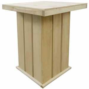 Τραπέζι Μπαρ Κήπου 75x75x110 εκ. Εμποτισμένο Ξύλο Πεύκου FSC