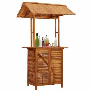 Τραπέζι Μπαρ με Στέγαστρο Εξ. Χώρου 122x106x217 εκ Ξύλο Ακακίας