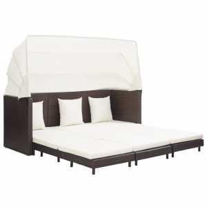 Καναπές Κρεβάτι Επεκτεινόμενος Τριθέσιος + Σκίαστρο Συνθ. Ρατάν