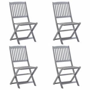 Καρέκλες Κήπου Πτυσσόμενες 4 τεμ. από Μασίφ Ξύλο Ακακίας
