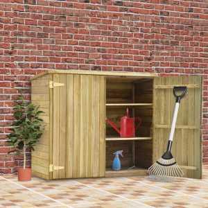 Αποθήκη Εργαλείων Κήπου 135x60x123 εκ. Εμποτισμένο Ξύλο Πεύκου