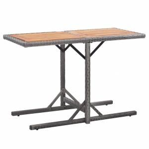 Τραπέζι Κήπου Ανθρακί από Συνθετικό Ρατάν/Μασίφ Ξύλο Ακακίας