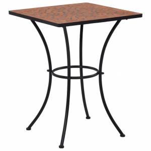 Τραπέζι Bistro «Μωσαϊκό» Τερακότα 60 εκ. Κεραμικό