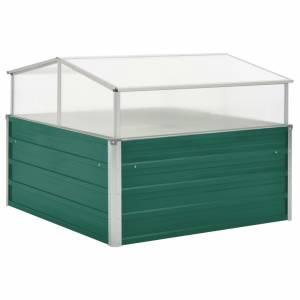 Θερμοκήπιο Σπορείο Πράσινο 100x100x77 εκ. Γαλβανισμένος Χάλυβας