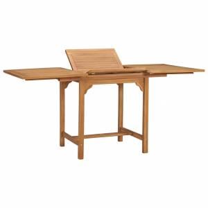 Τραπέζι Κήπου Επεκτεινόμενο (110-160)x80x75 εκ. Μασίφ Ξύλο Teak