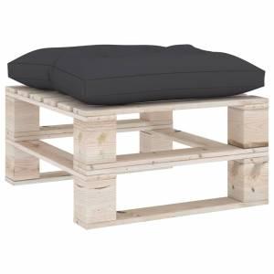 Μαξιλάρα Δαπέδου / Παλέτας Ανθρακί 60 x 61 x 10 εκ.