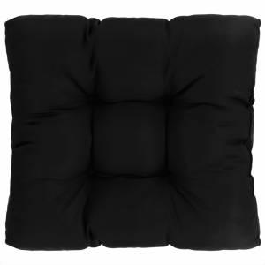 Μαξιλάρι Καθίσματος Κήπου Μαύρο 60 x 60 x 10 εκ. Υφασμάτινο