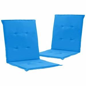 Μαξιλάρια Καρέκλας Κήπου με Πλάτη 2 τεμ. Μπλε 100 x 50 x 3 εκ.