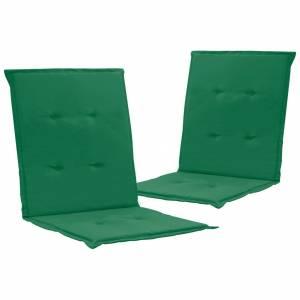 Μαξιλάρια Καρέκλας Κήπου με Πλάτη 2 τεμ. Πράσινα 100x50x3 εκ.