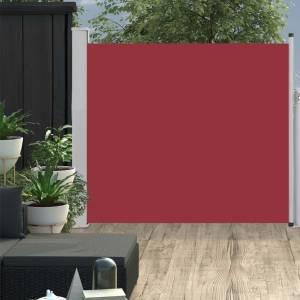 Σκίαστρο Πλαϊνό Συρόμενο Βεράντας Κόκκινο 100 x 300 εκ.