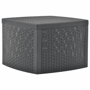 Βοηθητικό Τραπέζι Ανθρακί 54 x 54 x 36,5 εκ. Πλαστικό