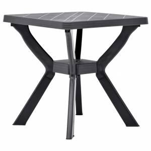 Τραπέζι Bistro Ανθρακί 70 x 70 x 72 εκ. Πλαστικό