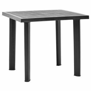 Τραπέζι Κήπου Ανθρακί 80 x 75 x 72 εκ. Πλαστικό