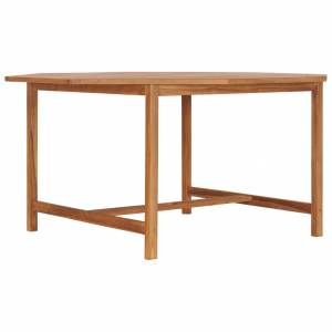 Τραπέζι Κήπου 150 x 150 x 75 εκ. από Μασίφ Ξύλο Teak