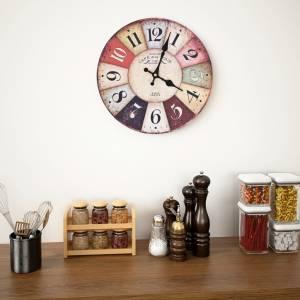 Ρολόι Τοίχου Vintage Πολύχρωμο 30 εκ.