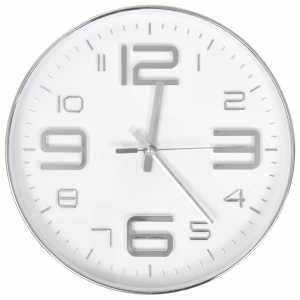 Ρολόι Τοίχου Ασημί 30 εκ.